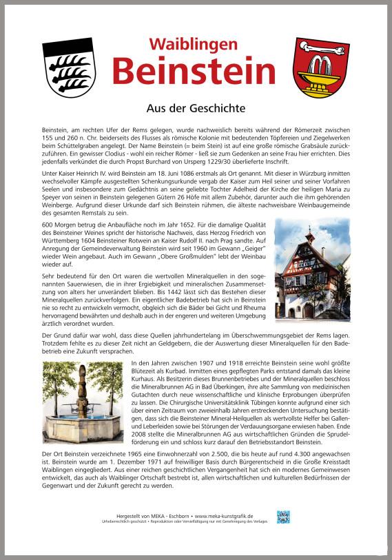 Zur  Geschichte Beinsteins (Stand: 2019)